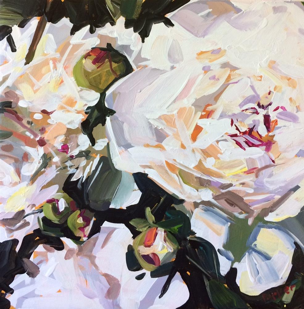 """Peony Practice"" original fine art by Teddi Parker"