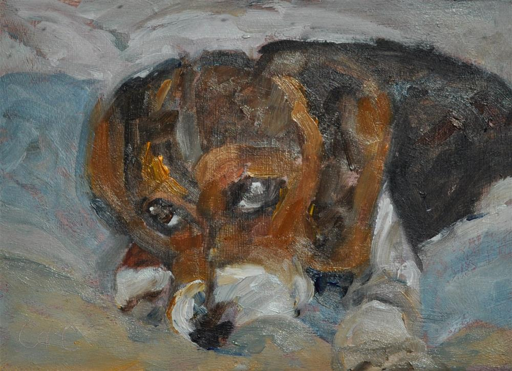 """Little Sad Eyes"" original fine art by Catherine Crookston"