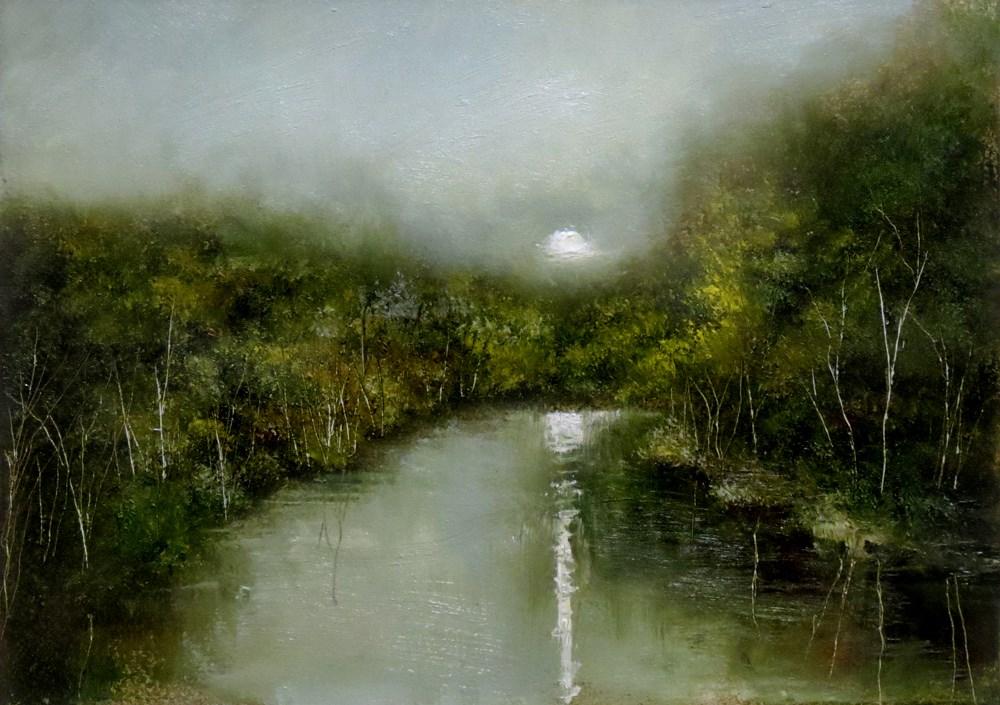 """""""Moonshine"""" original fine art by Bob Kimball"""