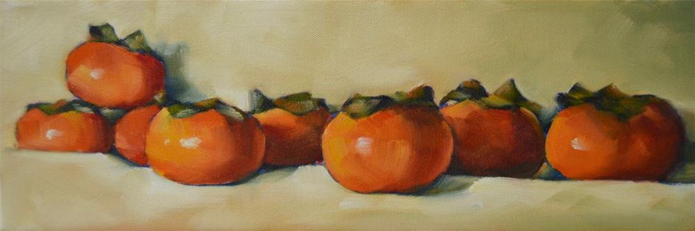 """Persimmon Crowd"" original fine art by Cheryl Wilson"