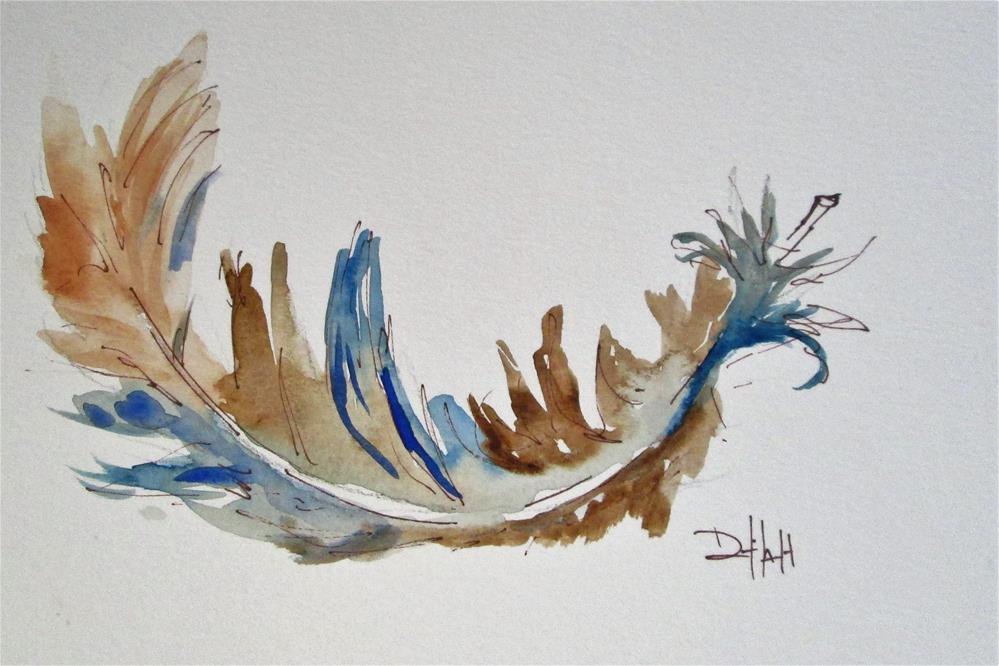 """Feather No. 3"" original fine art by Delilah Smith"