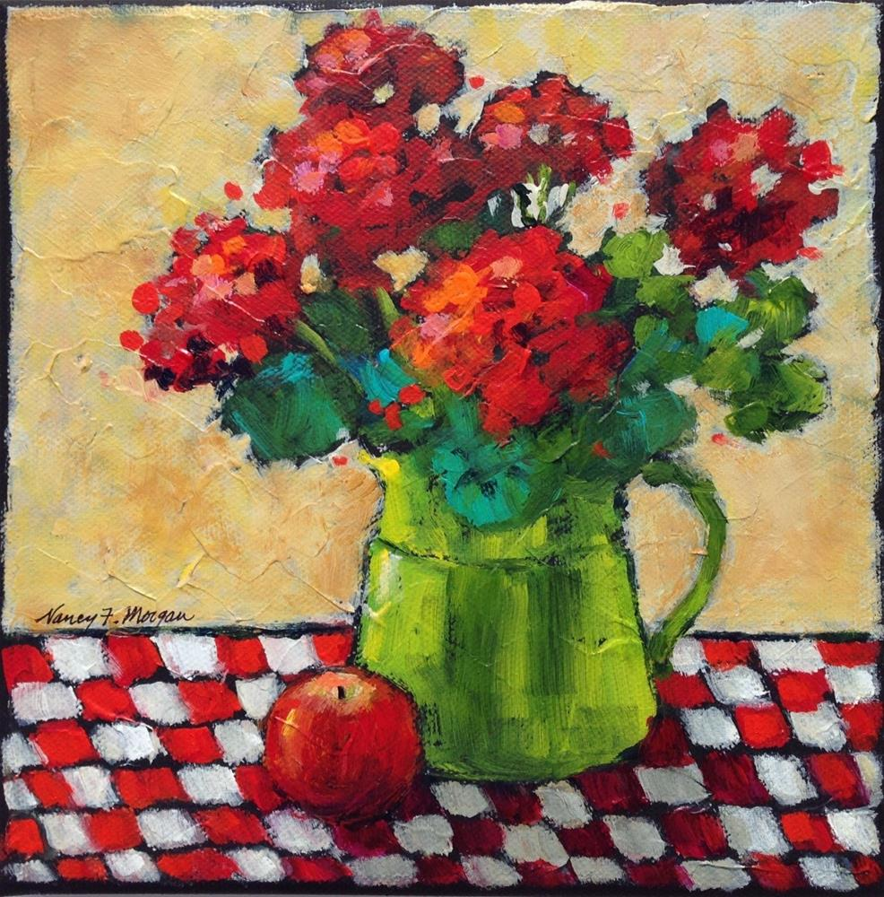 """Timeless Geraniums"" original fine art by Nancy F. Morgan"