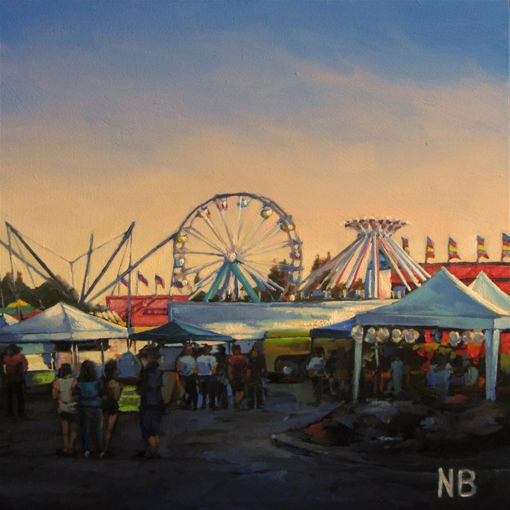 """Friday Night at the Fair"" original fine art by Nora Bergman"