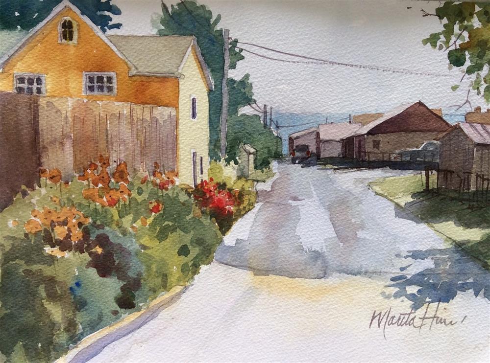 """Back Alley Garden"" original fine art by Marita Hines"