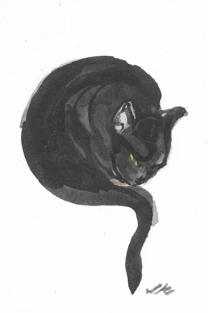 """CleanCat Cat 30"" original fine art by Jean Krueger"