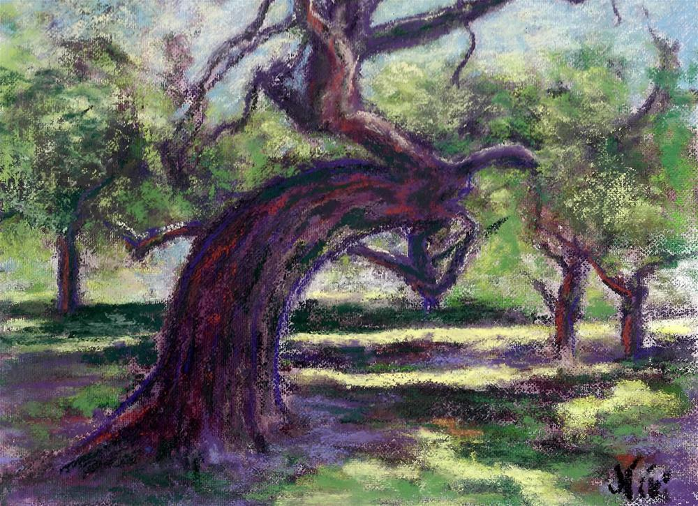 """Bowing Oak"" original fine art by Niki Hilsabeck"