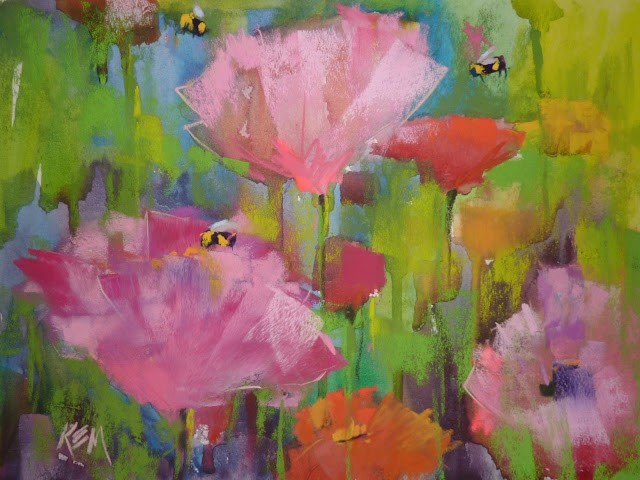 """How Many Bees Are Enough?"" original fine art by Karen Margulis"