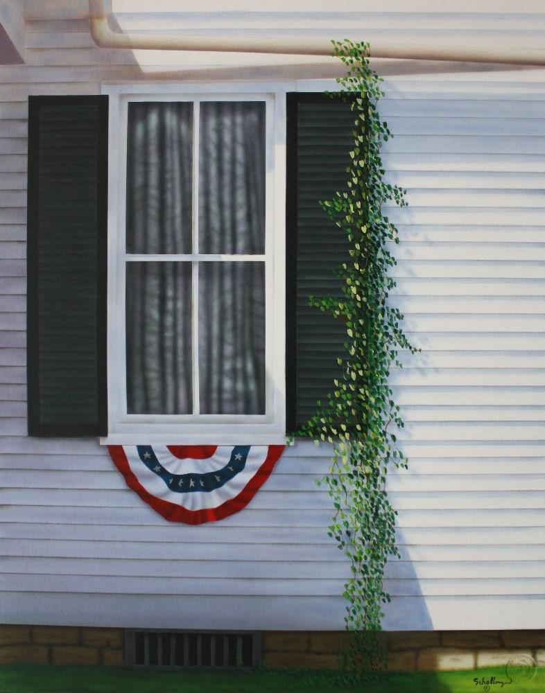 """Independence Day"" original fine art by Fred Schollmeyer"