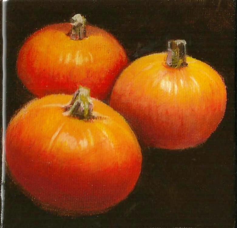 """Pumpkins"" original fine art by Stuart Graham"