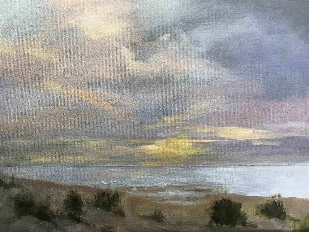 """evening on the shore"" original fine art by Betty Argiros"