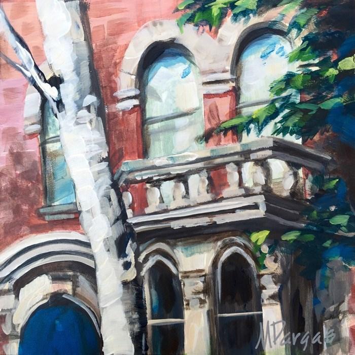 """Upper East Side Balcony"" original fine art by Mary Pargas"