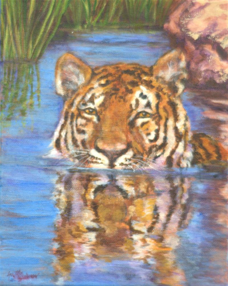 """""""Cooling Off on a Hot Summer Day"""" original fine art by Carla Ridener"""