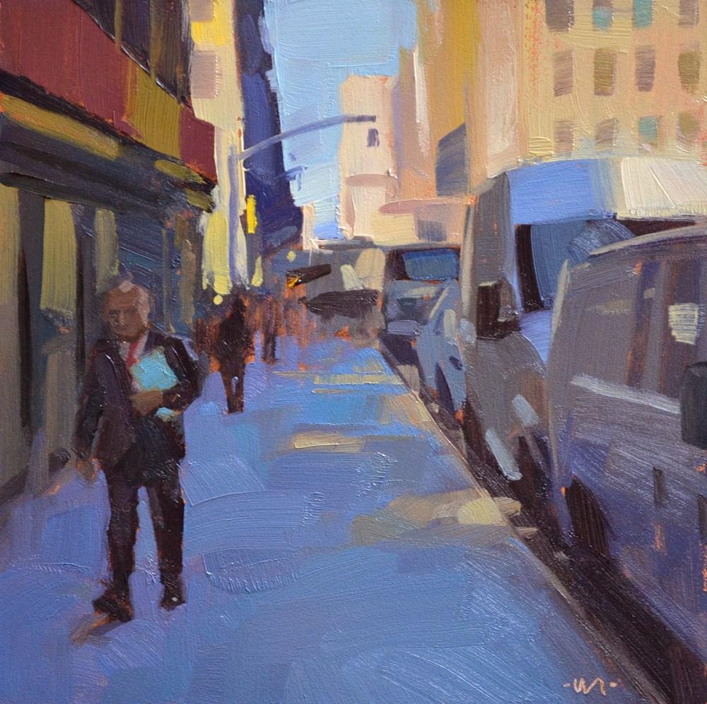 """""""Glowing Sidewalk"""" original fine art by Carol Marine"""