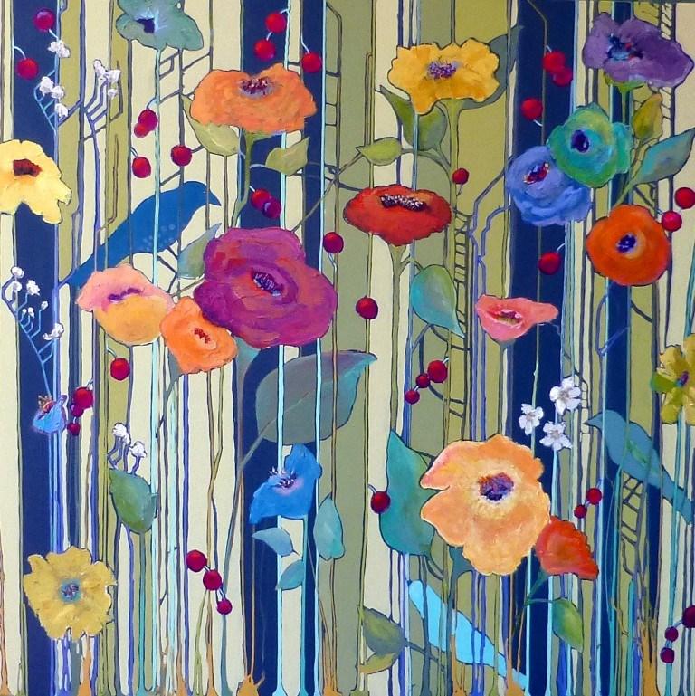 """Time to Bloom"" original fine art by Nancy Standlee"