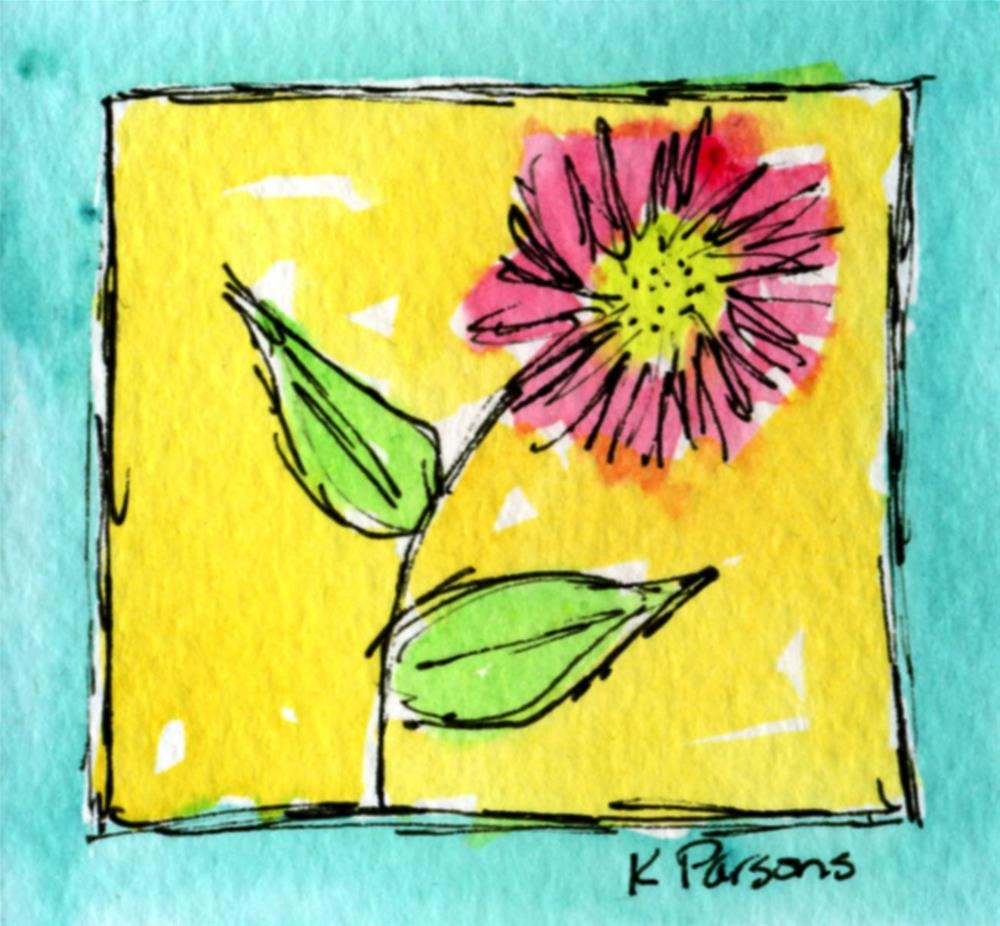 """""""Bordered by Turquoise"""" original fine art by Kali Parsons"""