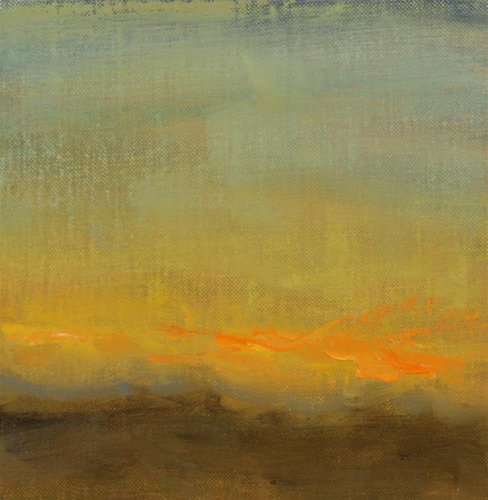"""Winter Sunset 01"" original fine art by Scott Serafica"