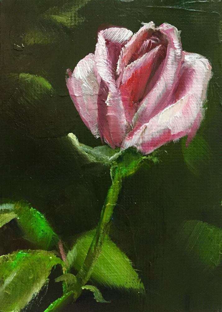 """Single Rose"" original fine art by Gary Bruton"