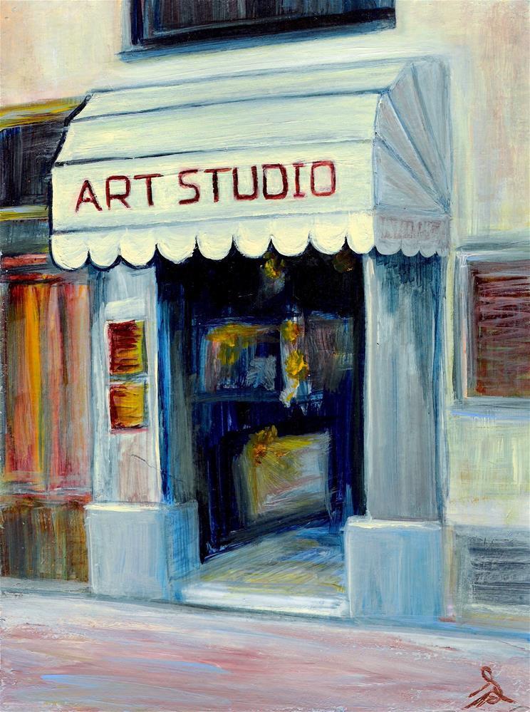 """3190 - Art Studio - Windpower Series"" original fine art by Sea Dean"