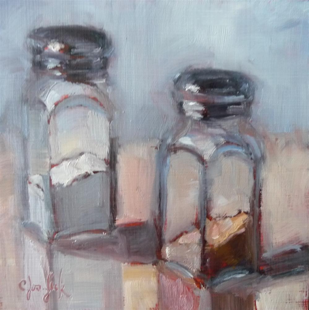 """Opposites Attract"" original fine art by Carol Josefiak"