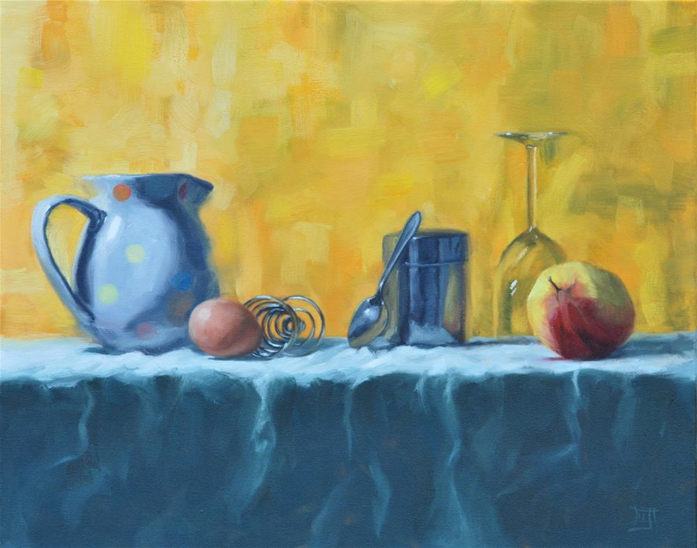 """""""An Apple and an Egg"""" original fine art by Johan Derycke"""