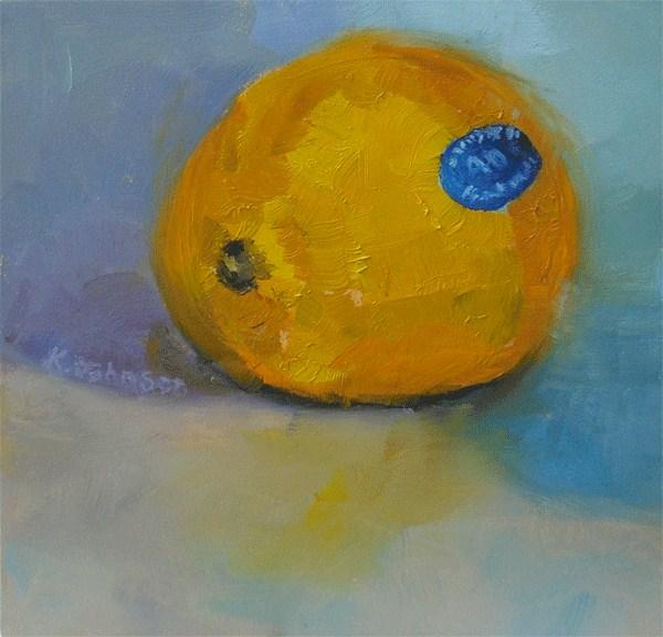 """Blue Monday Lemon"" original fine art by Kathy Johnson"