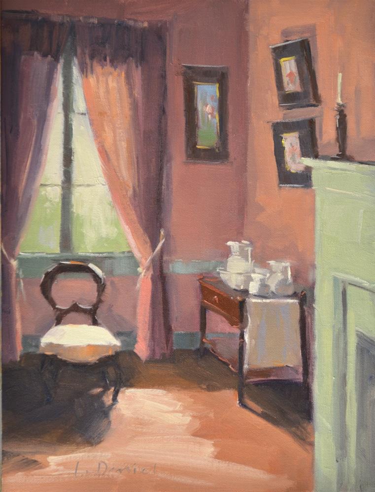 """Pink Room"" original fine art by Laurel Daniel"