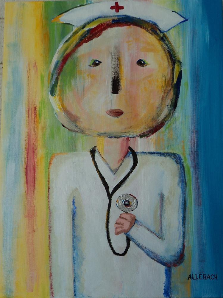 """Marcie's Neighbor"" original fine art by Jo Allebach"