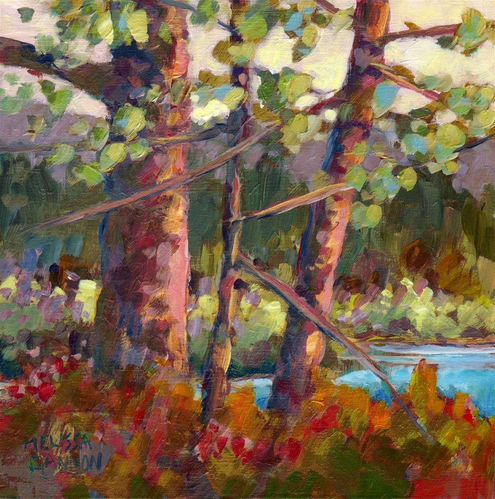 """Trees & Greens"" original fine art by Melissa Gannon"