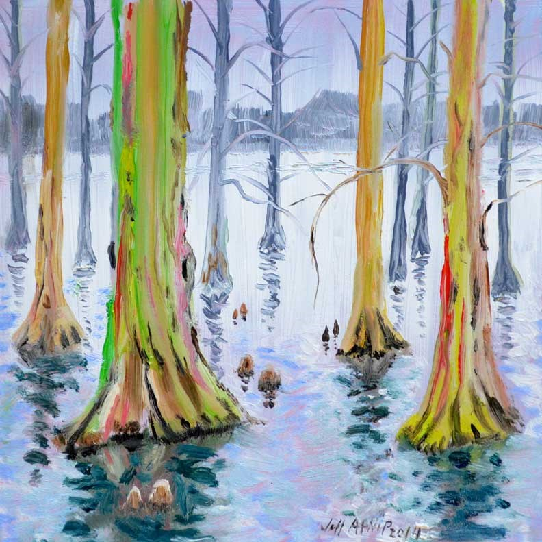"""Gray Day At Reelfoot"" original fine art by Jeff Atnip"