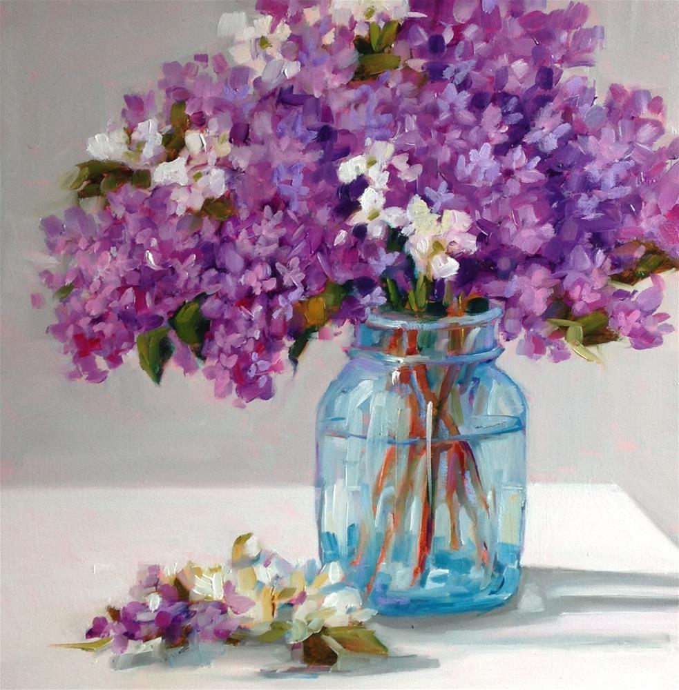 """Lilac Magic"" original fine art by Libby Anderson"