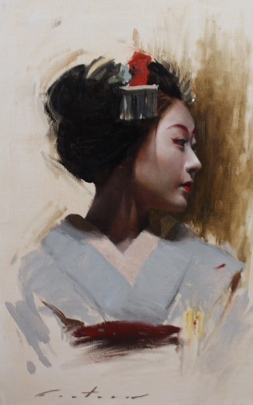 """Katsunosuke"" original fine art by Phil Couture"
