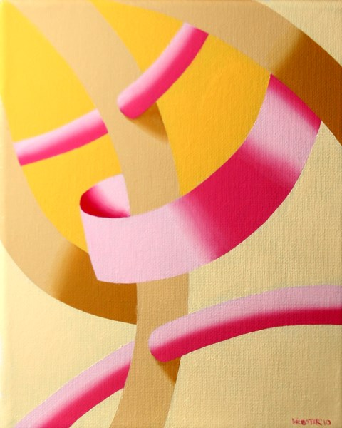 """""""Mark Webster - Biomechanical Abstract Geometric Oil Painting 2"""" original fine art by Mark Webster"""