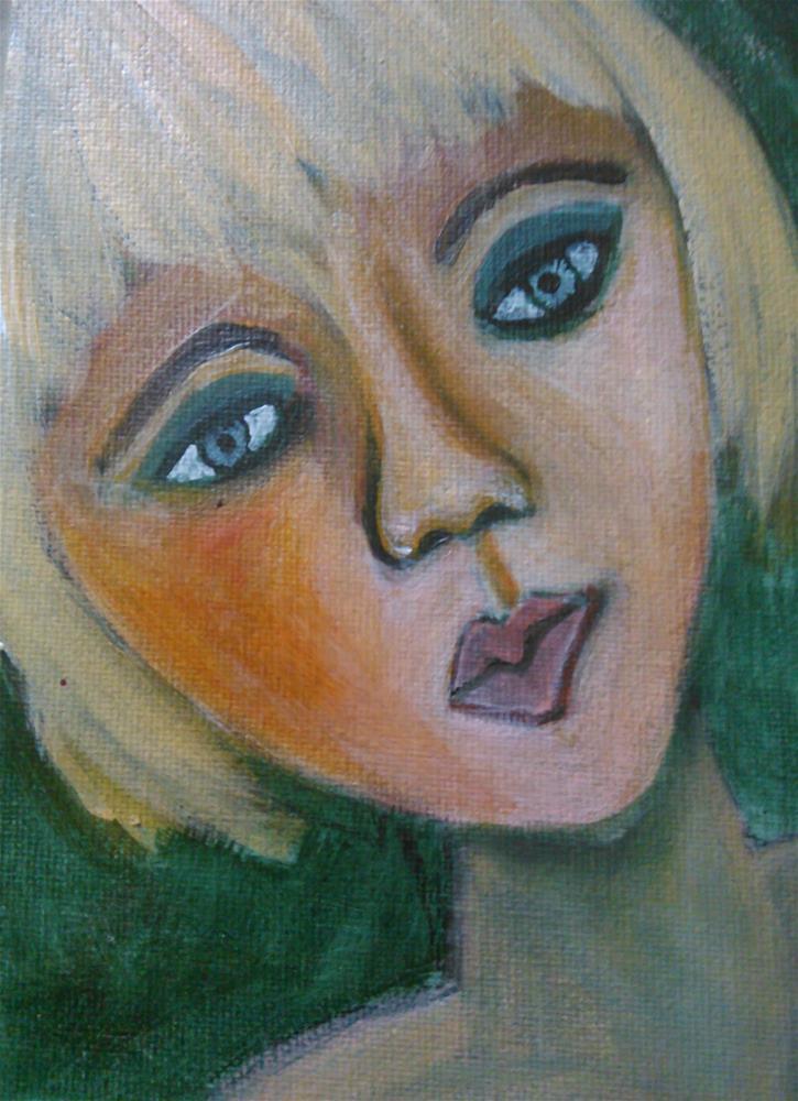 """""""Polly"""" original fine art by Gerri Obrecht"""