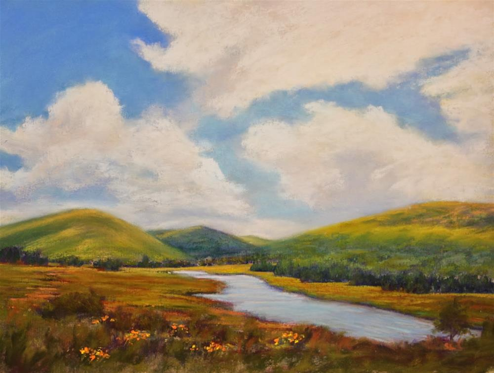 """A River Flows Through Here"" original fine art by Sharon Lewis"