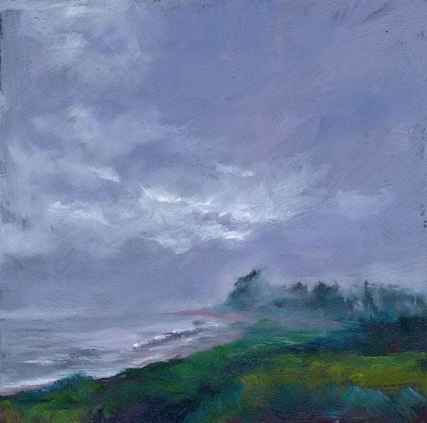 """Fog Bank"" original fine art by Brenda Ferguson"