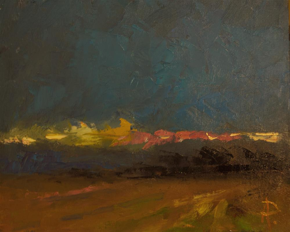 """""""Improvisation on the Sussex Downs"""" original fine art by Andre Pallat"""