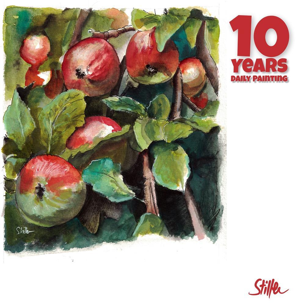"""3662 Apple Tree"" original fine art by Dietmar Stiller"