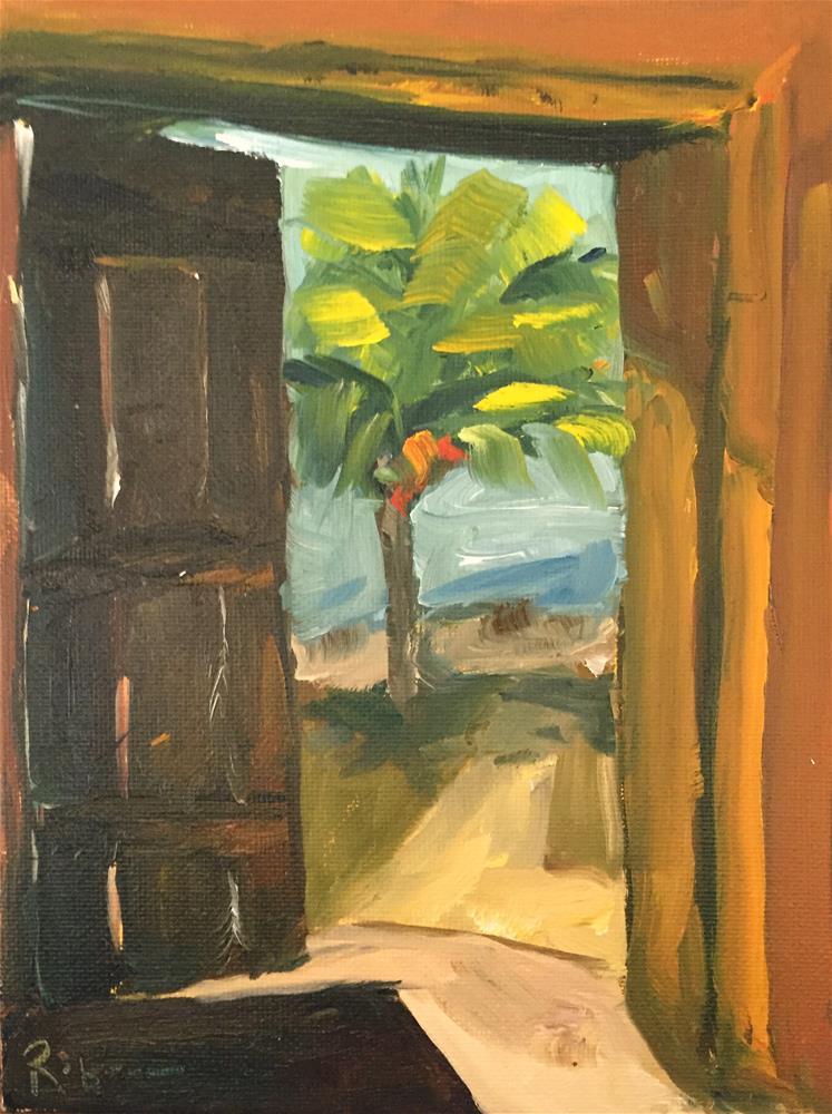 """""""Door to Paradise"""" original fine art by Renee Robison"""