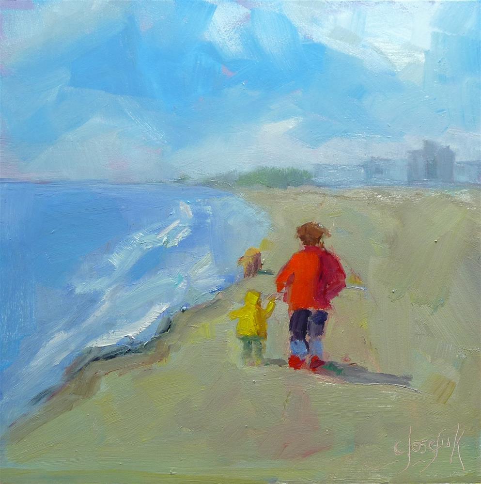 """Perfect day at the beach"" original fine art by Carol Josefiak"