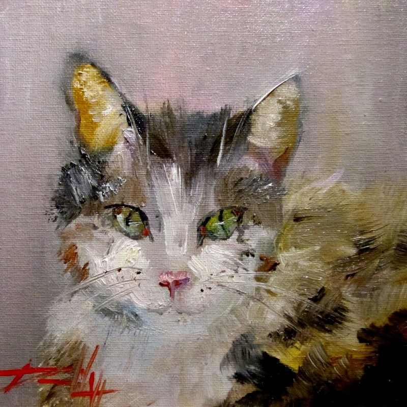 """Kitty Kitty"" original fine art by Delilah Smith"