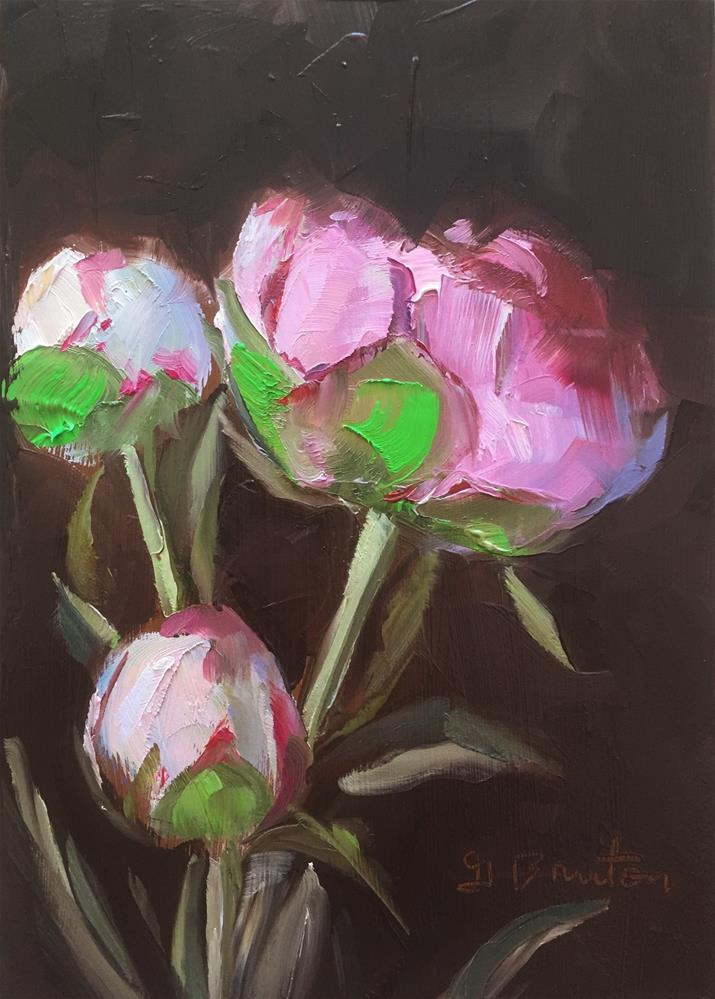 """Pink Peonies"" original fine art by Gary Bruton"
