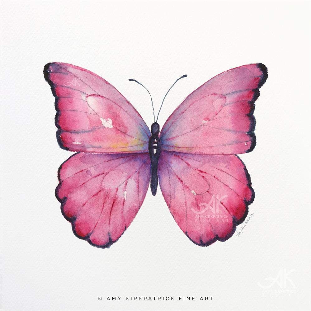 """""""#105 Pink Celestina Butterfly #0576"""" original fine art by Amy Kirkpatrick"""
