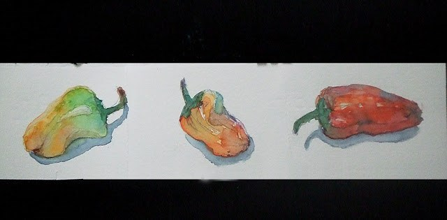 """""""Mini 3"""" original fine art by Mitsuru Cope"""