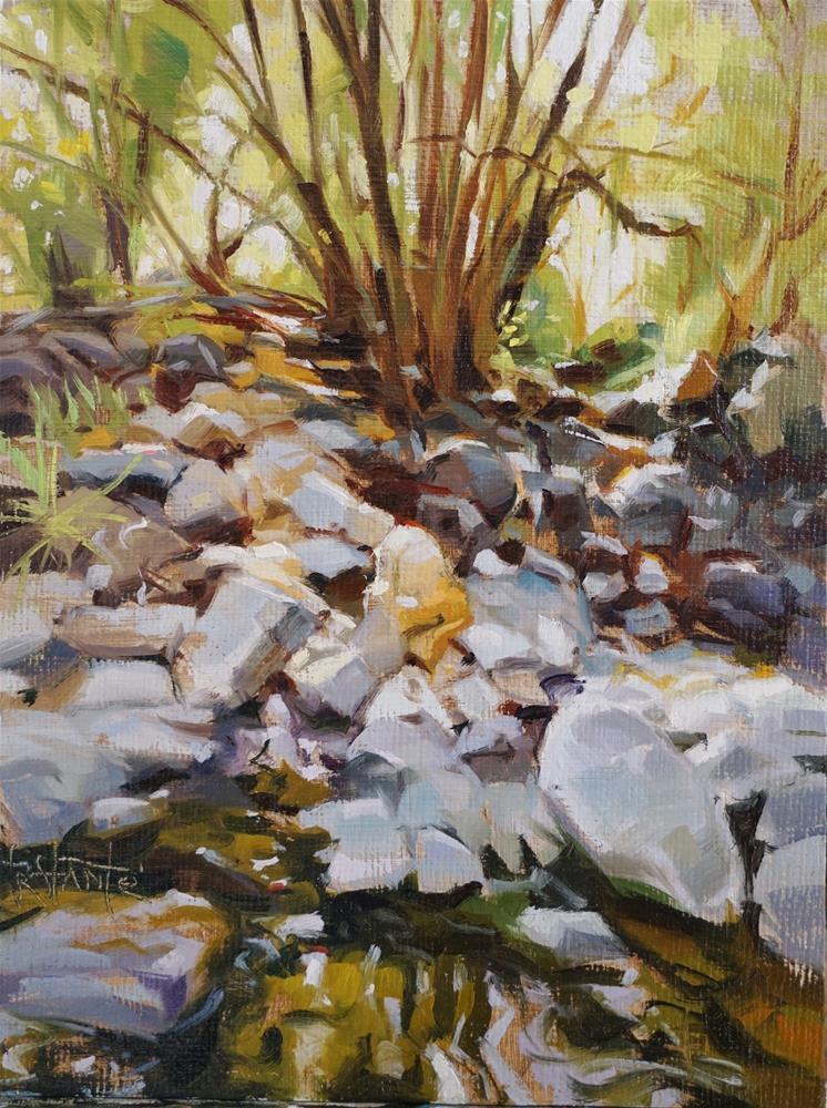 """Dry river"" original fine art by Víctor Tristante"