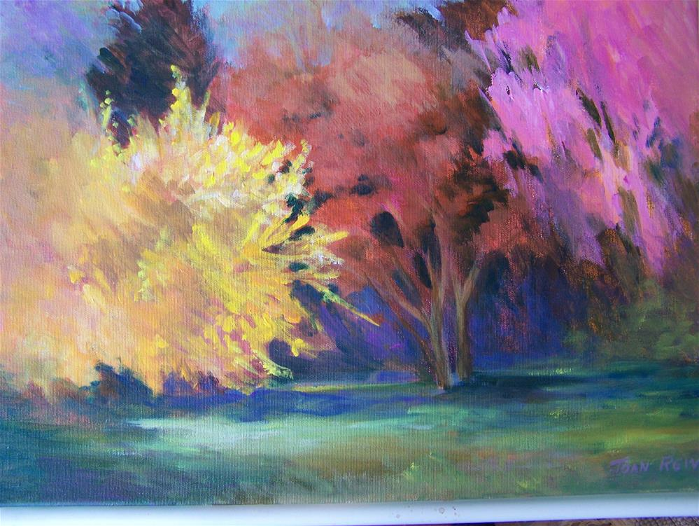 """Forsythia"" original fine art by Joan Reive"
