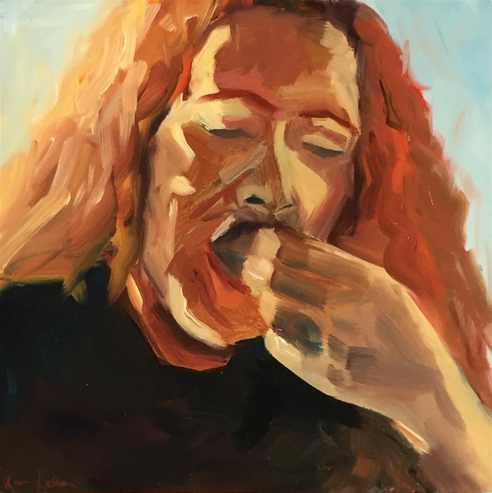 """Yum!"" original fine art by Karen Laken"
