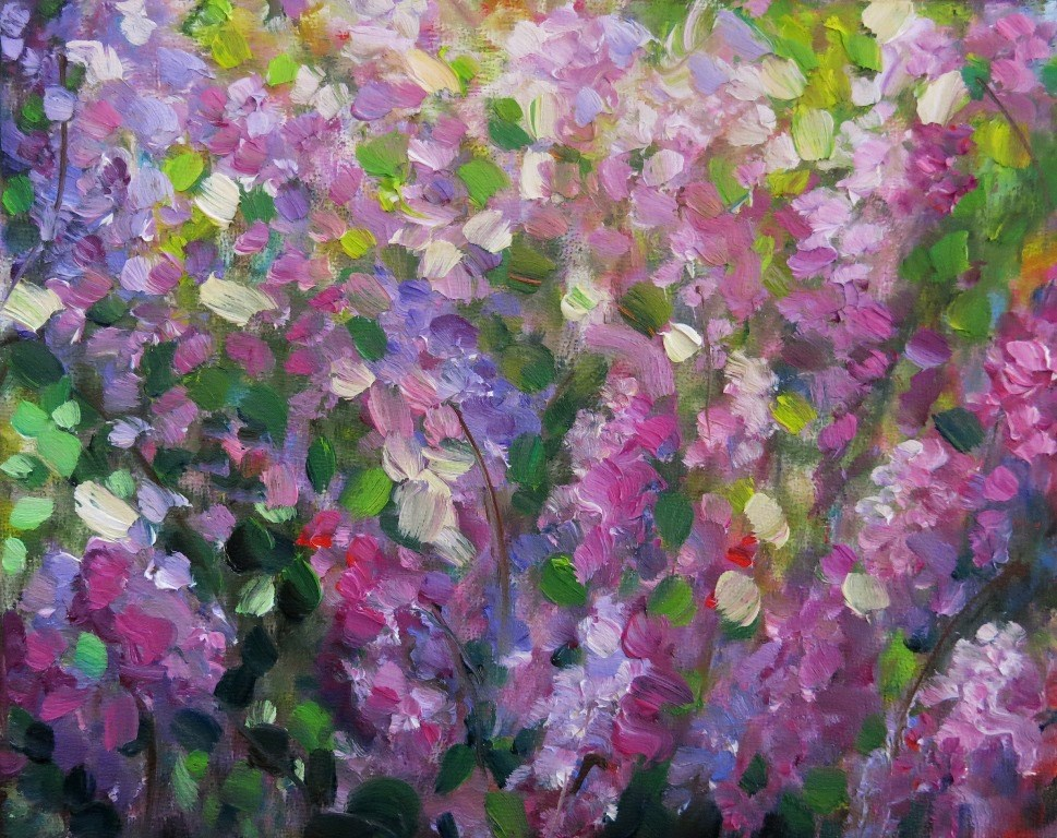 """#116  TAOS LILACS"" original fine art by Dee Sanchez"
