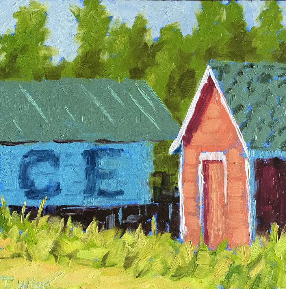 """""""Red Shack"""" original fine art by Tracy Wise"""