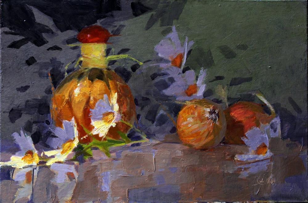 """""""PEPPERS IN A BOTTLE"""" original fine art by Ron Ferkol"""