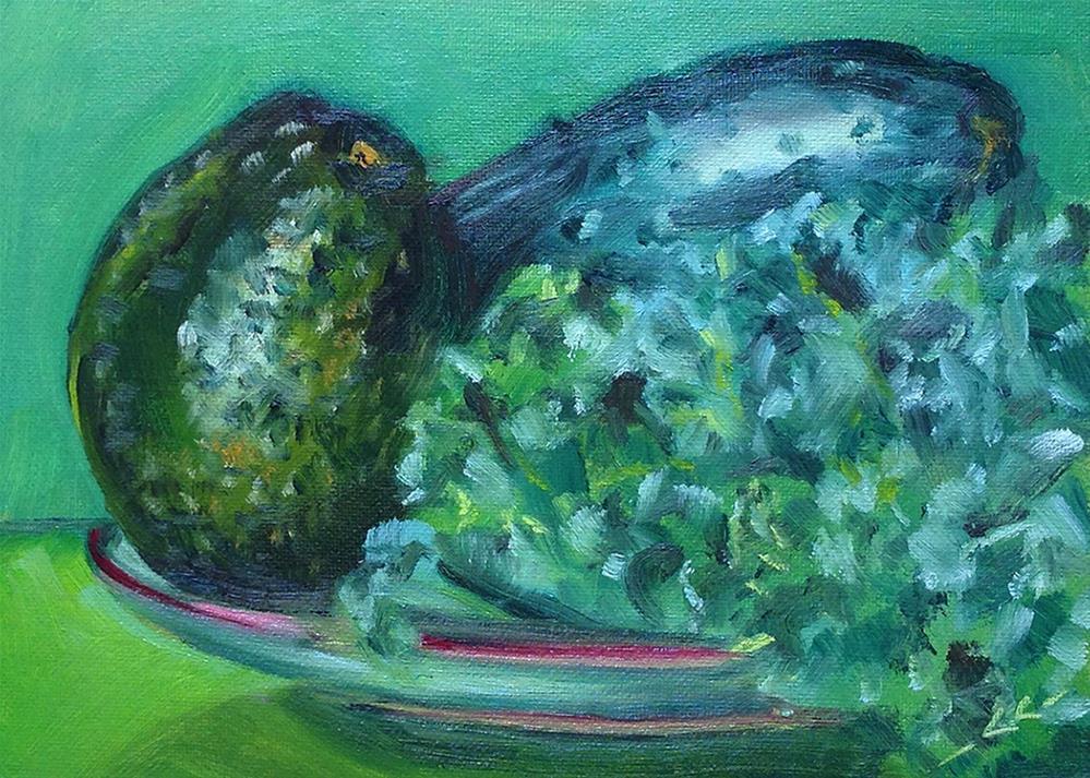 """My Green Smoothie Kit"" original fine art by Linda Lowery"
